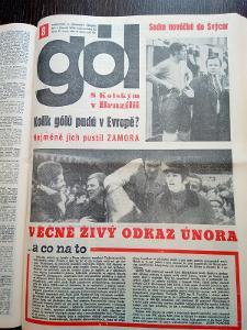 HOKEJ a FOTBAL ČASOPIS GÓL ROČNÍK 1971 - VÁZANÁ KNIHA KOMPLET ROČNÍK