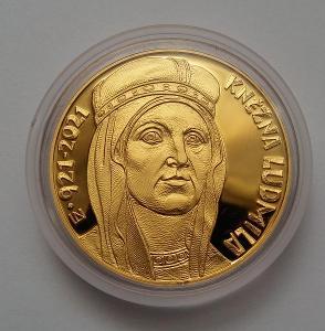 Kněžna Ludmila - zlatá mince - 10 000 Kč - PROOF