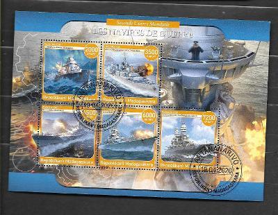Madagaskar - II. světová válka - lodě - Bismark, Fiji, Roma, Arizona..