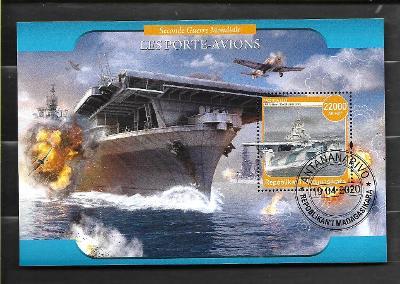 Madagaskar - II. světová válka - letadlové lodě - USS Yorktown