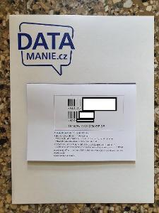 O2 SIM karta ZLATÉ ČÍSLO 728 740 728, Datamánie 100GB/300Kč/měsíc/NOVÁ
