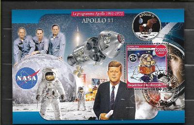 Madagaskar2020 -kosmos - Apollo 11, Eagle, Armstrong, Aldrin, Kennedy,