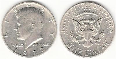 1/2 Dollar 1972 - Kennedy, USA