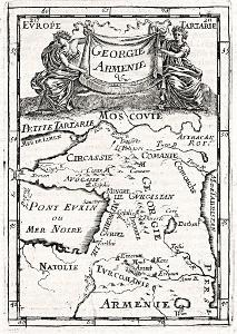 Georgie Armenie, Mallet, mědiryt, 1683
