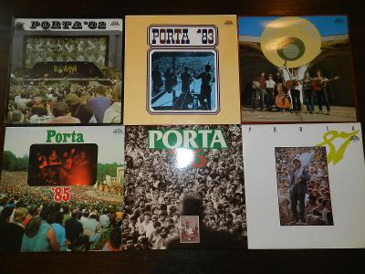 6x LP vinyl Porta (trampská, country)