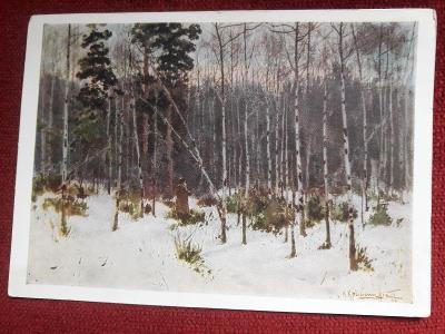 Ruský pohled Les v zimě