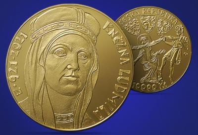 Zlatá mince 10 000Kč Kněžna Ludmila PROOF