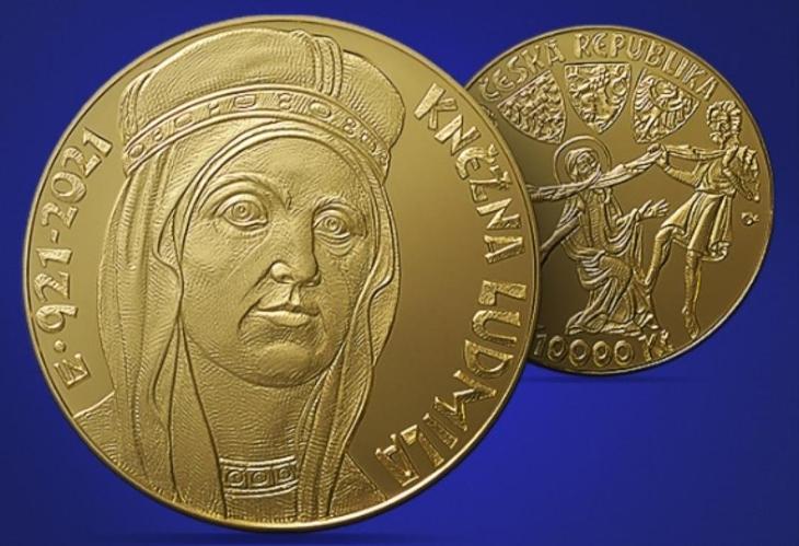 Zlatá mince 10 000Kč Kněžna Ludmila PROOF - Numismatika