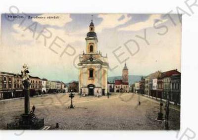 Hranice Přerov Žerotínovo náměstí kostel