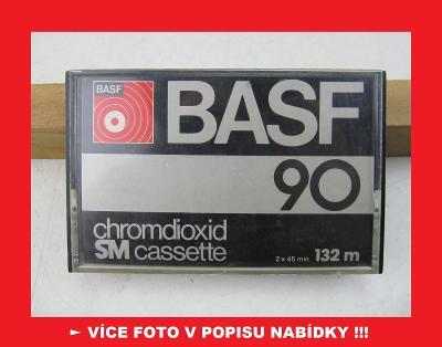 BASF SM 90 - stará sbírková KAZETA chromdioxid