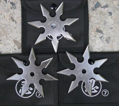 shuriken - házecí hvězdice 8 hroté sada 3 kusy