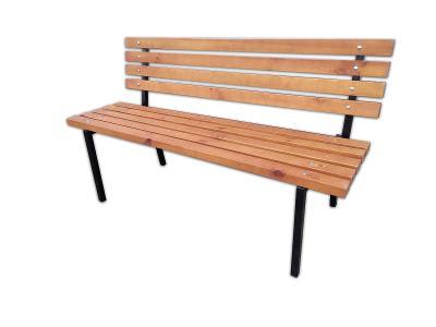Zahradní lavička, kovová konstrukce