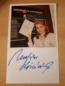 Kociánová Martina, moderátorka, karta s obrázkem a originál autogramem