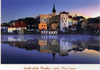 město Jindřichův Hradec - celkový pohled s rybníkem Malý Vajgar