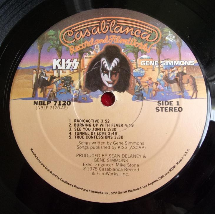 💥 LP: KISS - GENE SIMMONS, original USA pressing 1978  - Hudba