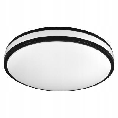 D-400 LED BLACK - designové moderní stropní světlo lustr - PRŮMĚR 40cm