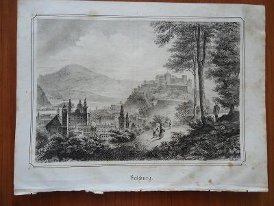 SALZBURG......vel. 19,5 x 26 cm....ocelorytina , cca 1880