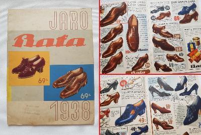 Starý reklamní katalog ceník Baťa Zlín 1938 obuv boty punčochy ponožky