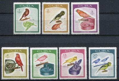 Kuba 1968 ** vtáky komplet mi. 1394-1400