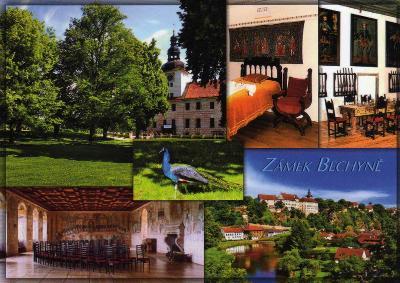 zámek Bechyně - celkový pohled a interiéry zámku