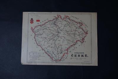 Mapa Česká Republika, České království