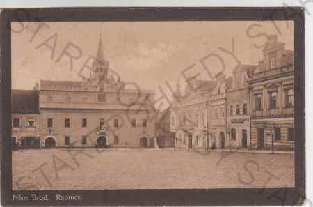 Německý Brod, Radnice s částí náměstí