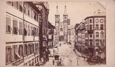 Kabinetka ulice s domy, Gattinrau Würzburg