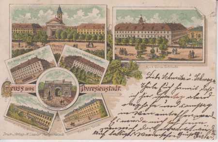 Terezín, náměstí, kostel, kasárny, více záběrů, ko