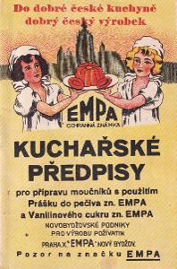 Brožura Kuchařské předpisy Empa, Praha