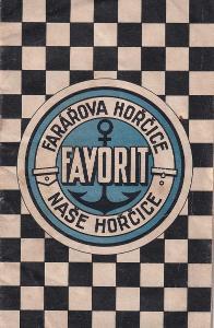 Brožura Favorit – farářova hořčice, Praha