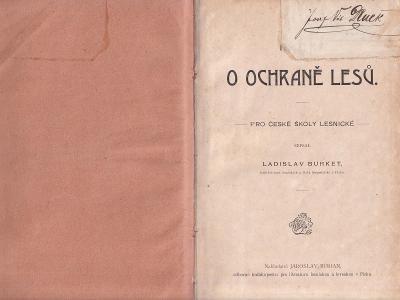 Kniha O ochraně lesů, Ladislav Burket