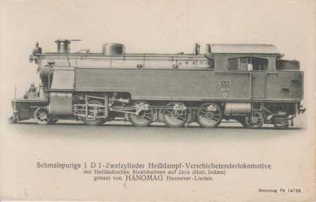 Úzkorozchodná dvouválcová parní lokomotiva (Hanoma