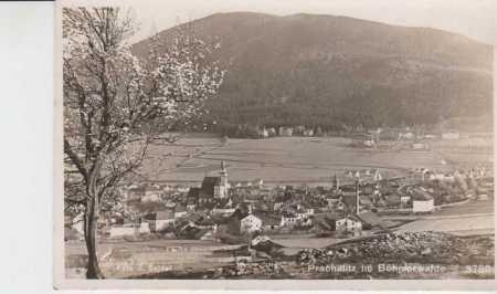 Prachatice (Prachatitz), celkový pohled na město