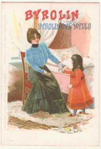 Byrolin - reklama, litografie, kolorovaná
