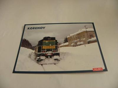 KOŘENOV - LOKOMOTIVA 743.001 (A86)