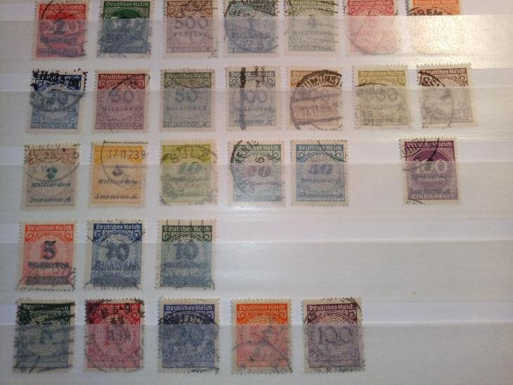 DR sbírka Inflace - ražené  - Filatelie