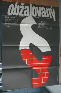 Obžalovaný (filmový plakát, film ČSSR 1964, režie Já
