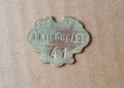 Psí známka - Královské Vinohrady - 1893