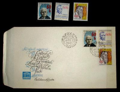 FDC obálka prvního dne vydání + známky navíc .
