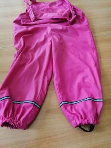 Dívčí softshellové ,nepromokavé kalhoty vel.116-122 ,na 5-6 let