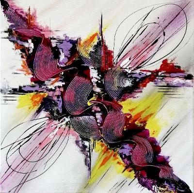 Abstraktní obraz 50x50 cm