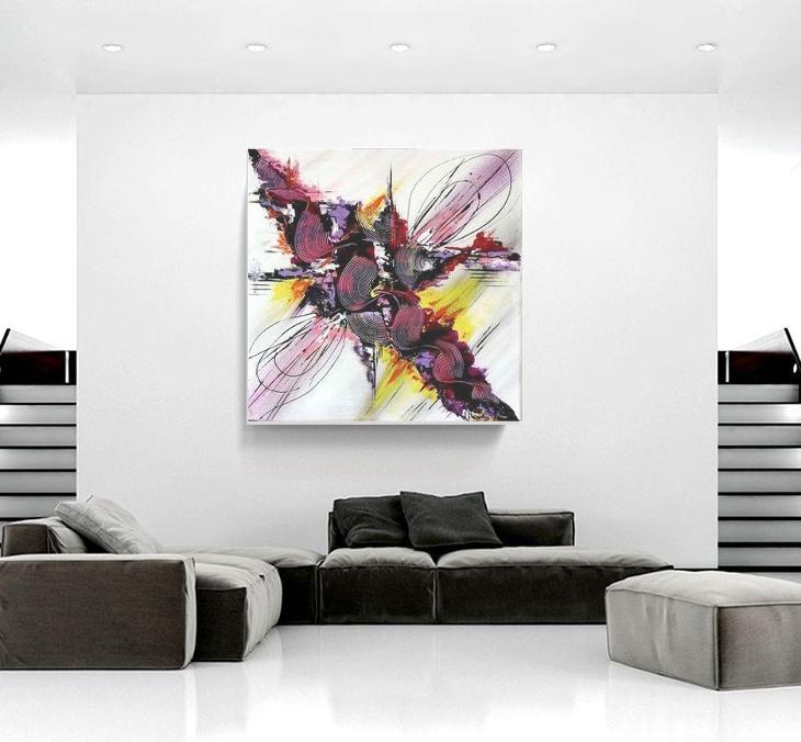 Abstraktní obraz 50x50 cm - Umění