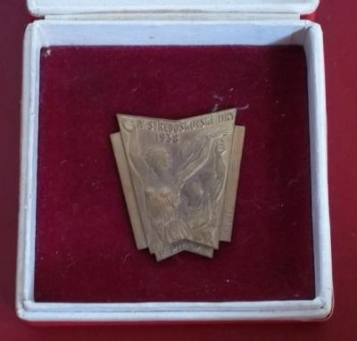 medaile Sokol - IV. Středoškolské Hry 1938_etue ČSR - První Republika