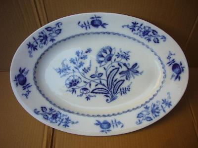 starožitný obří cibulákový talíř síře 47,4cm