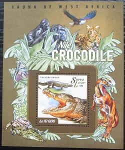Sierra Leone 2015 Krokodýl nilský Mi# Block 722 2530