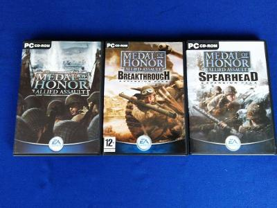 PC - 3x MEDAL OF HONOR ALLIED ASSAULT - COMPLETE (retro 2002-2003)Top