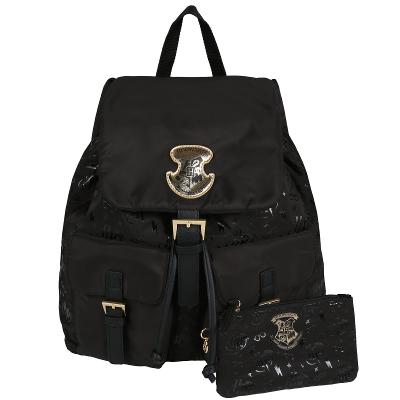 Černý batoh s kapsami HOGWARTS Harry Potter