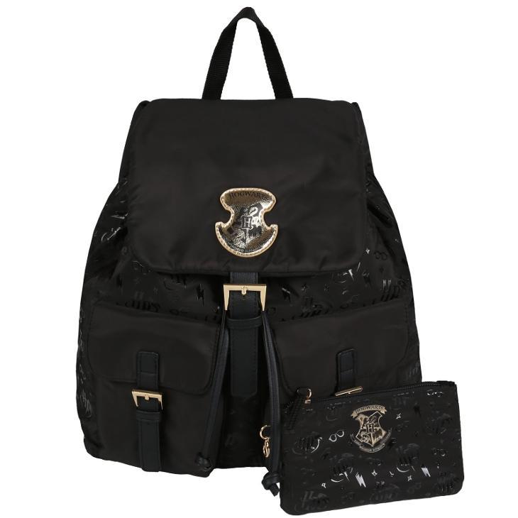 Černý batoh s kapsami HOGWARTS Harry Potter  - Tašky, batohy, kufry