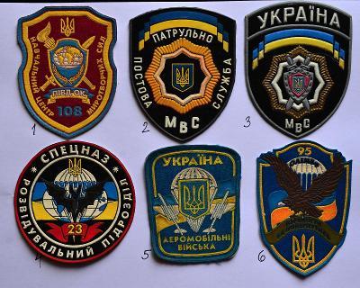UKRAJINA, nášivka na výber (viz popis) /FNA-03