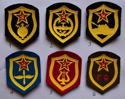 SSSR-Rusko, nášivka na výber (viz popis) /FNA-05